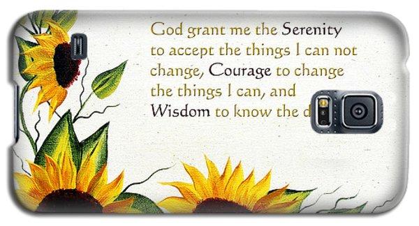 Sunflowers And Serenity Prayer Galaxy S5 Case