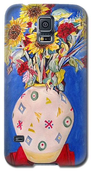 Sunflowers At Home Galaxy S5 Case by Esther Newman-Cohen