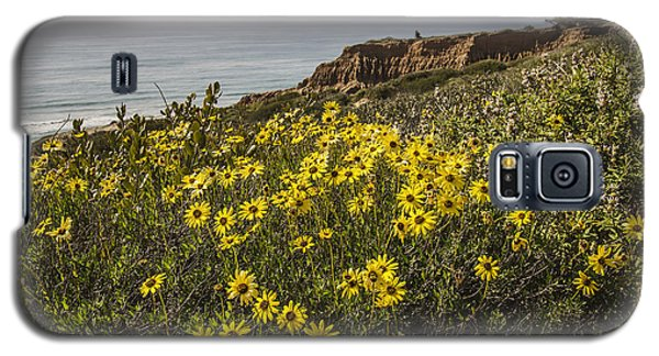 Galaxy S5 Case featuring the photograph Sunflowers At Yucca Point by Lee Kirchhevel