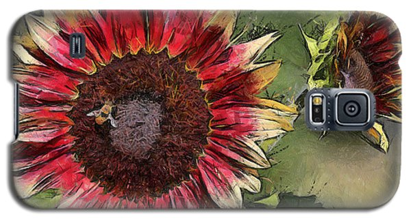 Galaxy S5 Case featuring the photograph Sunflowers by Brian Davis