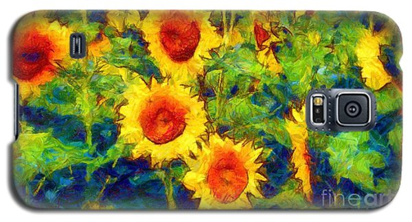 Sunflowers Dance In A Field Galaxy S5 Case
