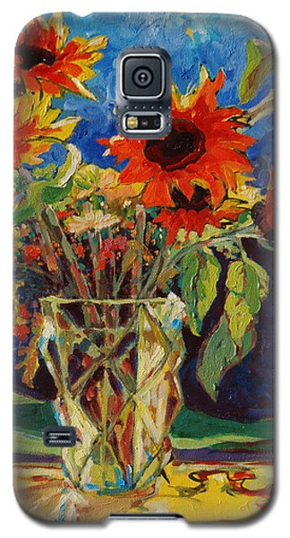 Sunflowers In A Crystal Vase Galaxy S5 Case