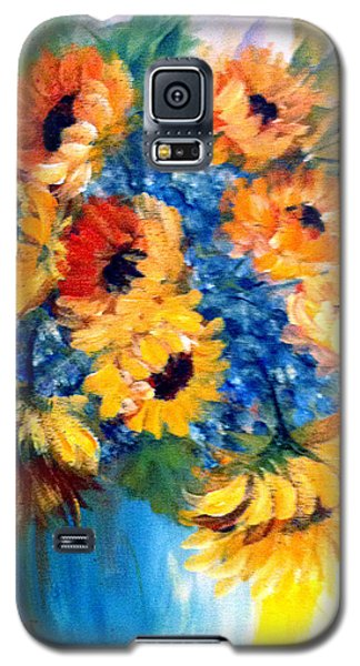 Sunflowers In A Vase Galaxy S5 Case by Dorothy Maier