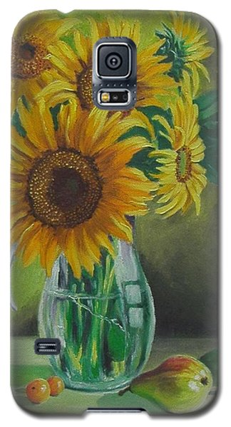 Sunflowers In Glass Jug Galaxy S5 Case