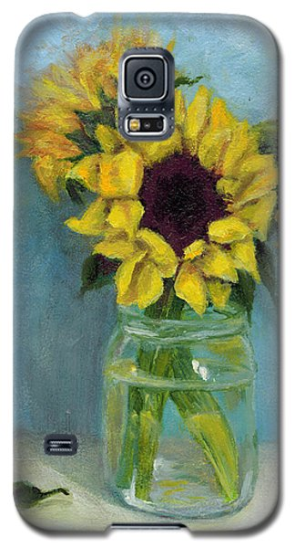 Sunflowers In Mason Jar Galaxy S5 Case