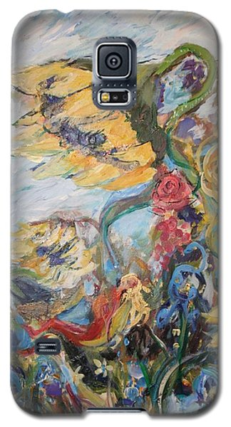 Sunflowers On A Windy Day Galaxy S5 Case by Avonelle Kelsey