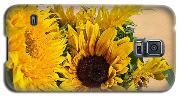 Sunflowers On Old Paper Background Art Prints Galaxy S5 Case