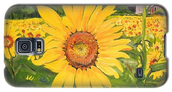 Sunflowers - Red Barn - Pennsylvania Galaxy S5 Case