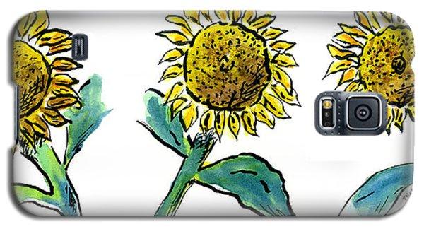 Sunflowers Trio Galaxy S5 Case