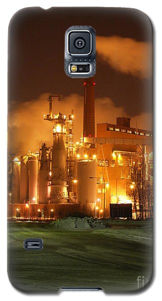 Sunila Pulp Mill By Winter Night Galaxy S5 Case