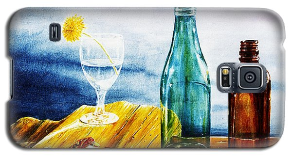 Galaxy S5 Case featuring the painting Sunlit Bottles by Hartmut Jager