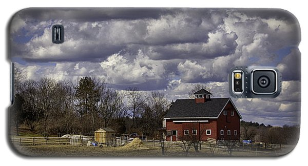 Galaxy S5 Case featuring the photograph Sunlit Farm by Betty Denise