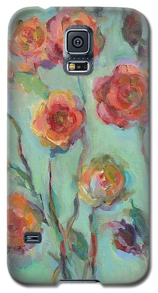 Galaxy S5 Case featuring the painting Sunlit Garden by Mary Wolf