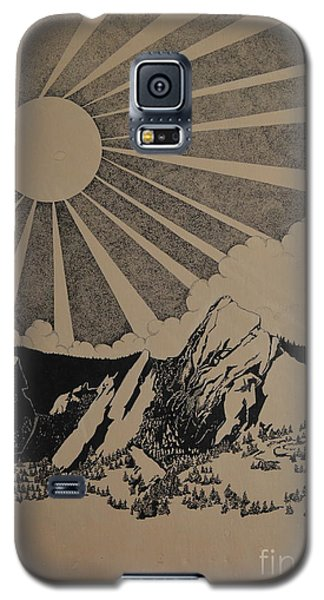 Galaxy S5 Case featuring the drawing Sunny 300 Days A Year by Stuart Engel