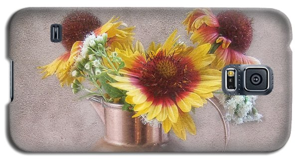 Sunny Treasure Flowers In A Copper Jug Galaxy S5 Case by Louise Kumpf