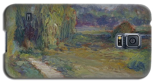 Sunny Morning In The Park -wetlands - Original - Textural Palette Knife Painting Galaxy S5 Case