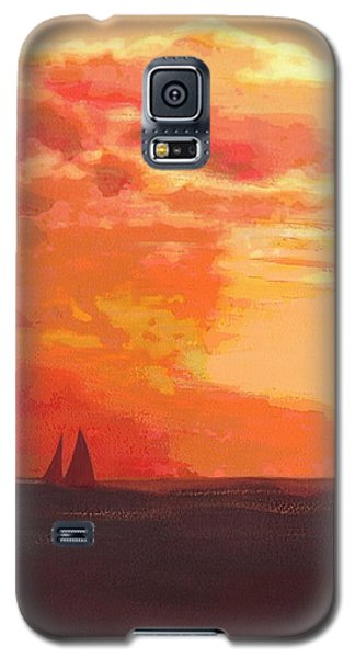 Sunrise And Sails Emerald Isle North Carolina Galaxy S5 Case