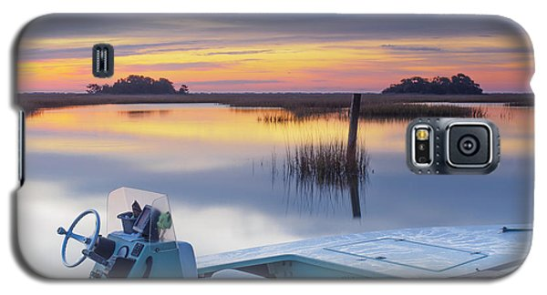 Sunrise Art Photograph - Hells Bay Marquesa Boat By Jo Ann Tomaselli Galaxy S5 Case