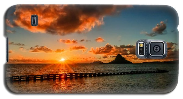 Sunrise At Hawaii Chainaman's Hat Galaxy S5 Case by RC Pics