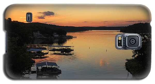 Sunrise At Lake Of The Ozarks Galaxy S5 Case by Dennis Hedberg