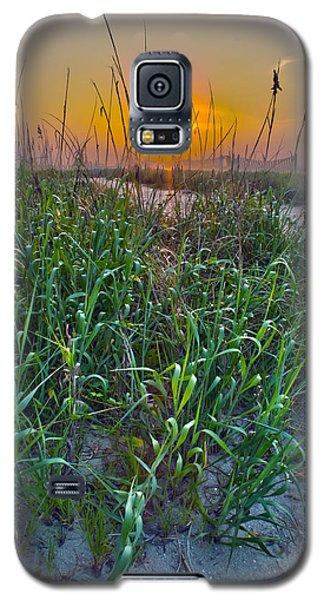 Galaxy S5 Case featuring the photograph Sunrise At Myrtle Beach by Alex Grichenko
