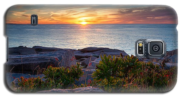 Sunrise At Otter Cliffs Galaxy S5 Case