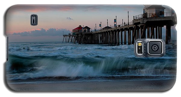Galaxy S5 Case featuring the photograph Sunrise At The Pier by Duncan Selby