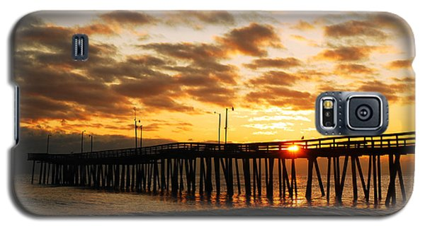 Galaxy S5 Case featuring the photograph Sunrise At Virginia Beach by James Kirkikis