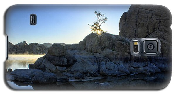 Galaxy S5 Case featuring the photograph Sunrise At Watson Lake by Dan Myers