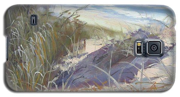 Galaxy S5 Case featuring the painting Sunrise Beach Dunes Sunshine Coast Qld Australia by Chris Hobel