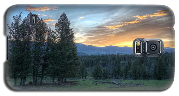 Sunrise Behind Pine Trees In Yellowstone Galaxy S5 Case