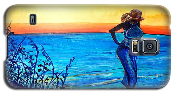Galaxy S5 Case featuring the painting Sunrise Blues by Ecinja Art Works