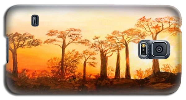 Sunrise Boab Trees Galaxy S5 Case by Renate Voigt