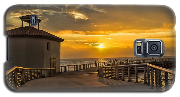Sunrise Boynton Beach Jetty Galaxy S5 Case by Don Durfee