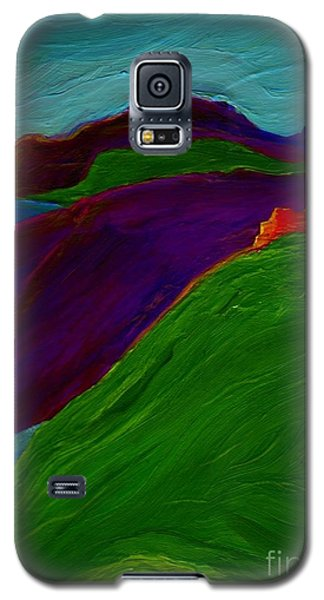 Galaxy S5 Case featuring the painting Sunrise Castle By Jrr by First Star Art
