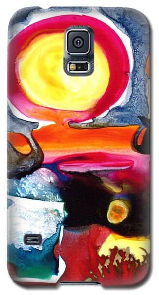 Galaxy S5 Case featuring the painting Sunrise by Catherine Redmayne