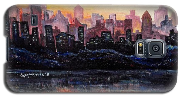 Galaxy S5 Case featuring the painting Sunrise City by Shana Rowe Jackson
