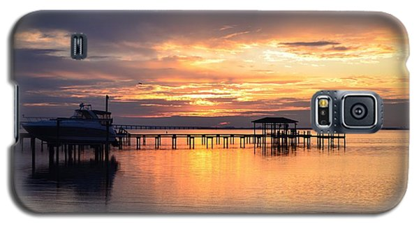 Galaxy S5 Case featuring the photograph Sunrise Colors On The Sound by Jeff at JSJ Photography