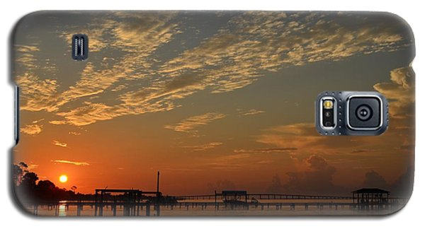 Sunrise Colors With Storms Building On Sound Galaxy S5 Case by Jeff at JSJ Photography