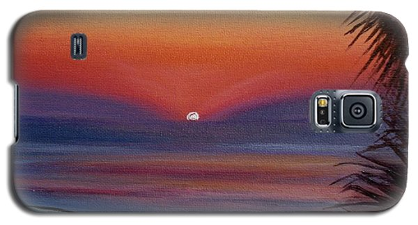 Galaxy S5 Case featuring the painting Sunrise Glow by Donna Tuten
