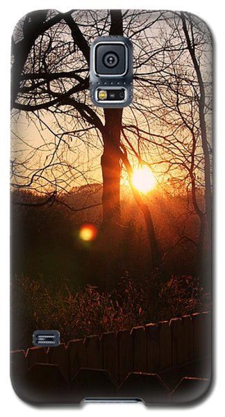 Galaxy S5 Case featuring the photograph Sunrise In Hocking Hills by Haren Images- Kriss Haren
