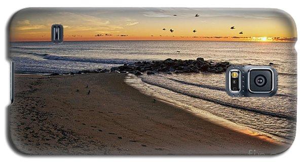 Galaxy S5 Case featuring the photograph Sunrise In Ocean Grove by Debra Fedchin
