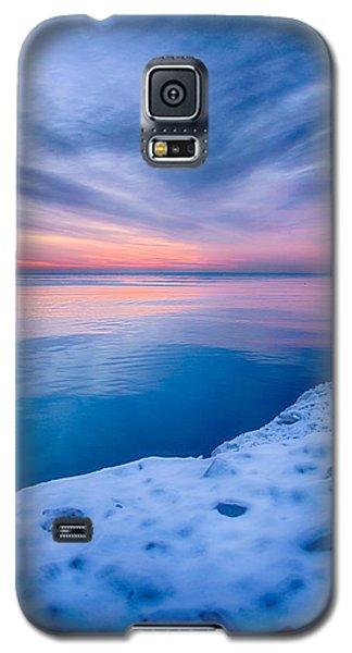 Sunrise Lake Michigan 12-19-13 2 Galaxy S5 Case by Michael  Bennett