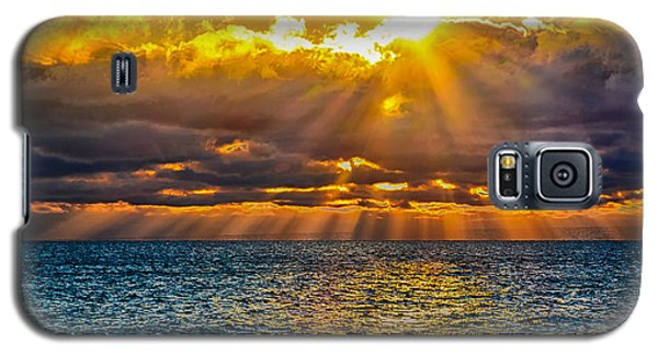 Sunrise Lake Michigan 9-29-13 Galaxy S5 Case by Michael  Bennett