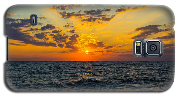 Galaxy S5 Case featuring the photograph Sunrise Lake Michigan August 10th 2013 001 by Michael  Bennett
