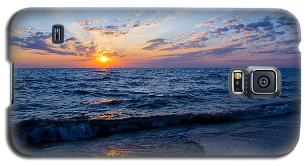 Galaxy S5 Case featuring the photograph Sunrise Lake Michigan August 10th 2013 002 by Michael  Bennett