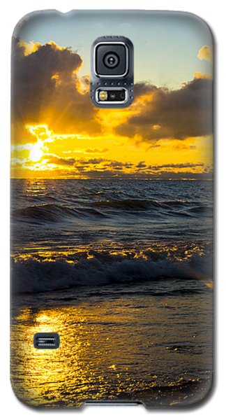 Galaxy S5 Case featuring the photograph Sunrise Lake Michigan August 30th 2013 001  by Michael  Bennett