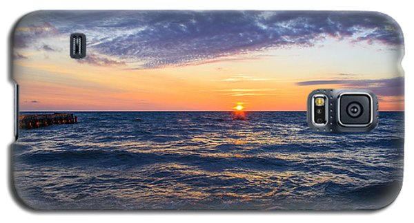 Galaxy S5 Case featuring the photograph Sunrise Lake Michigan August 8th 2013 001 by Michael  Bennett