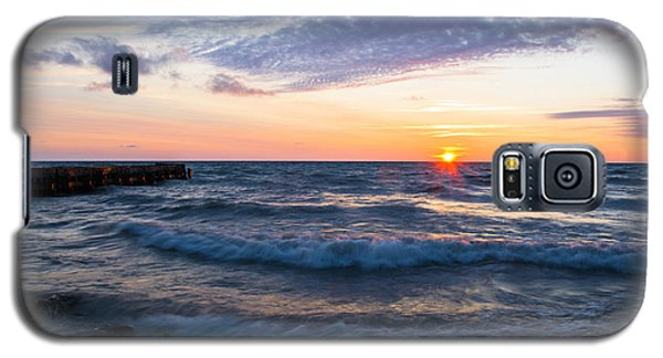Galaxy S5 Case featuring the photograph Sunrise Lake Michigan August 8th 2013 003 by Michael  Bennett