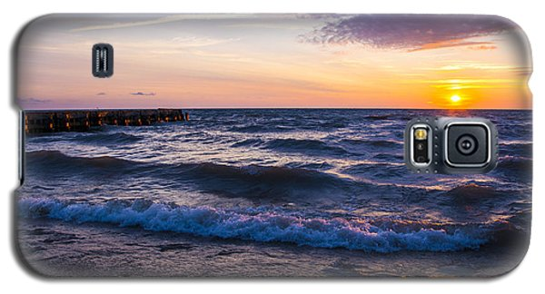 Galaxy S5 Case featuring the photograph Sunrise Lake Michigan August 8th 2013 004 by Michael  Bennett